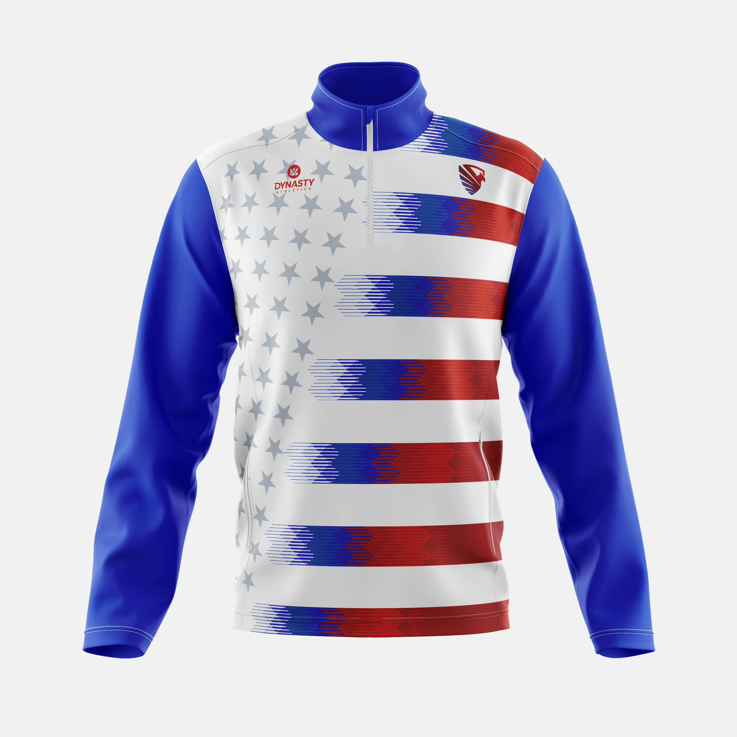 Freedom Qtr Zip Track Jacket Front View
