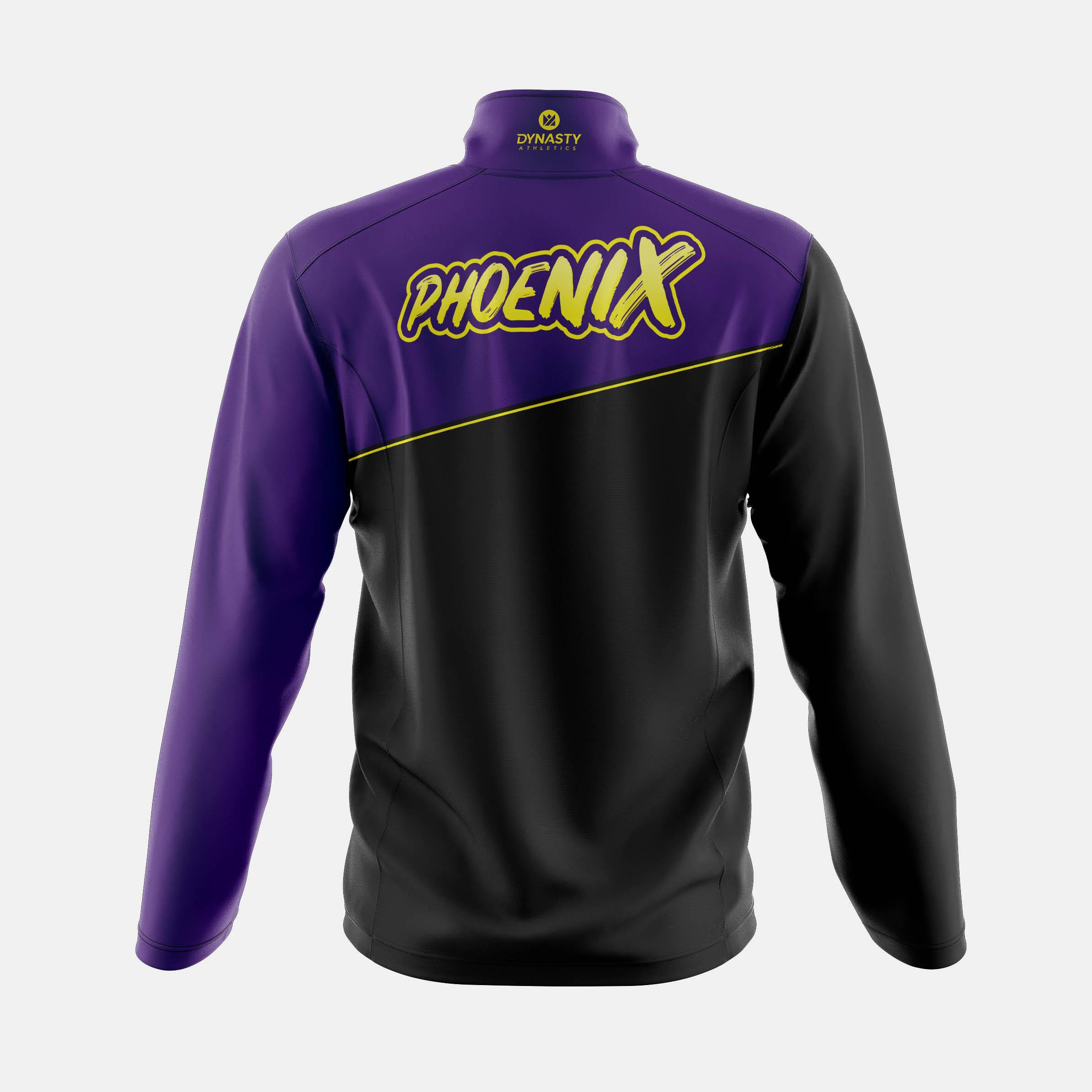 Phoenix Qtr Zip Tack Jacket Back View