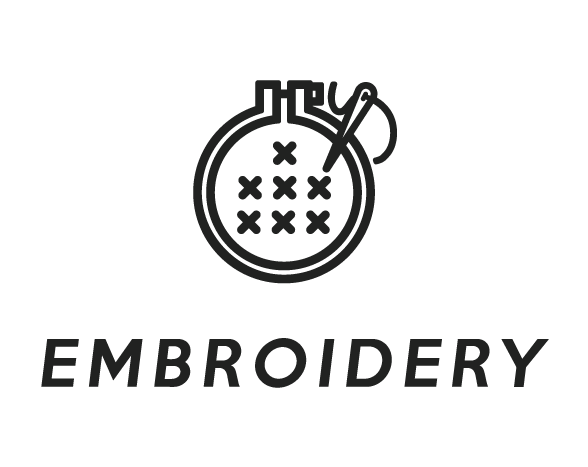 Embroidery Black