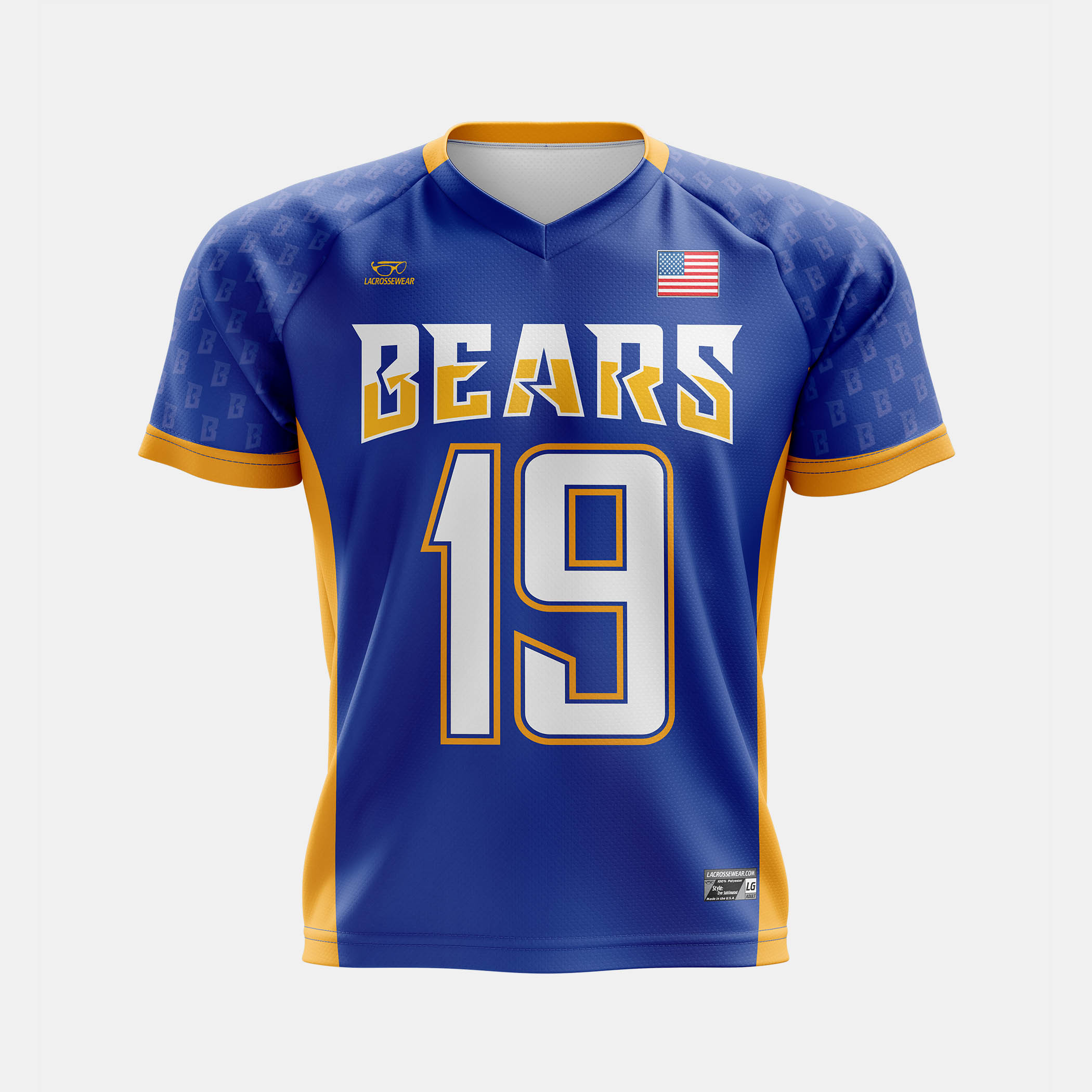 Bears Lax Jersey Mock Front View