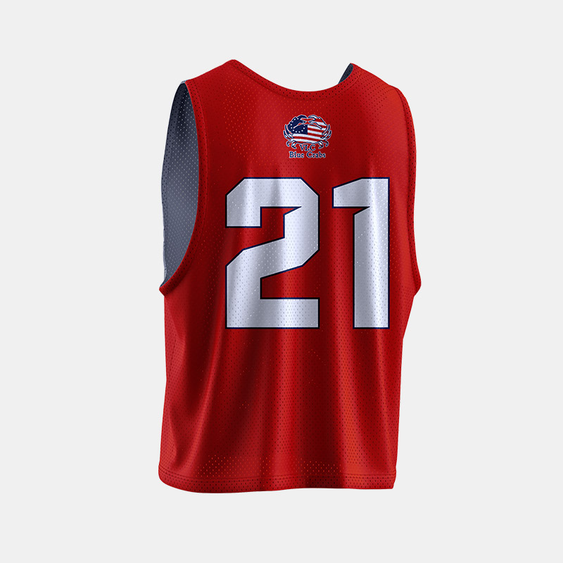 Crabs Reversible Pinnie Front Back VLC Red