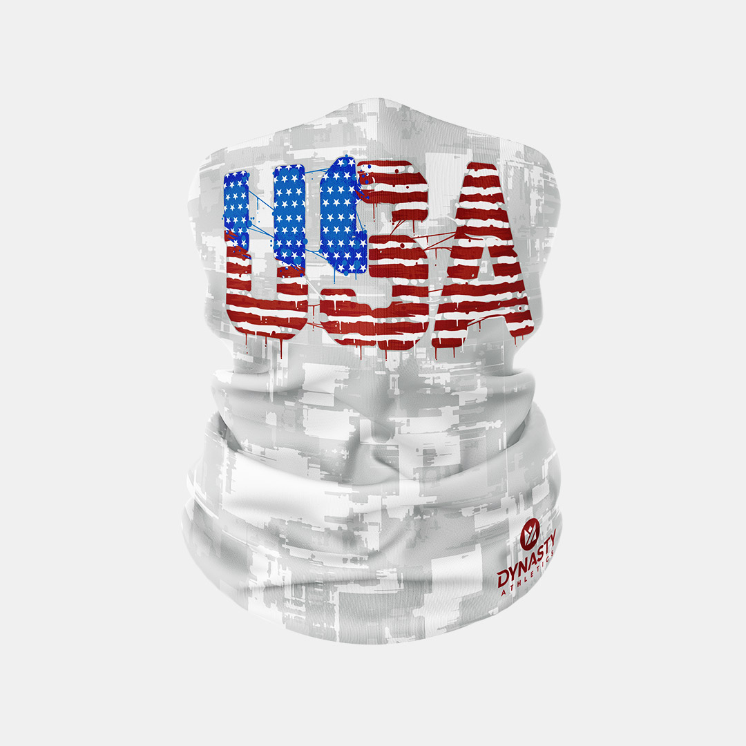 Lacrossewear Sublimated Gaiter USA Drip
