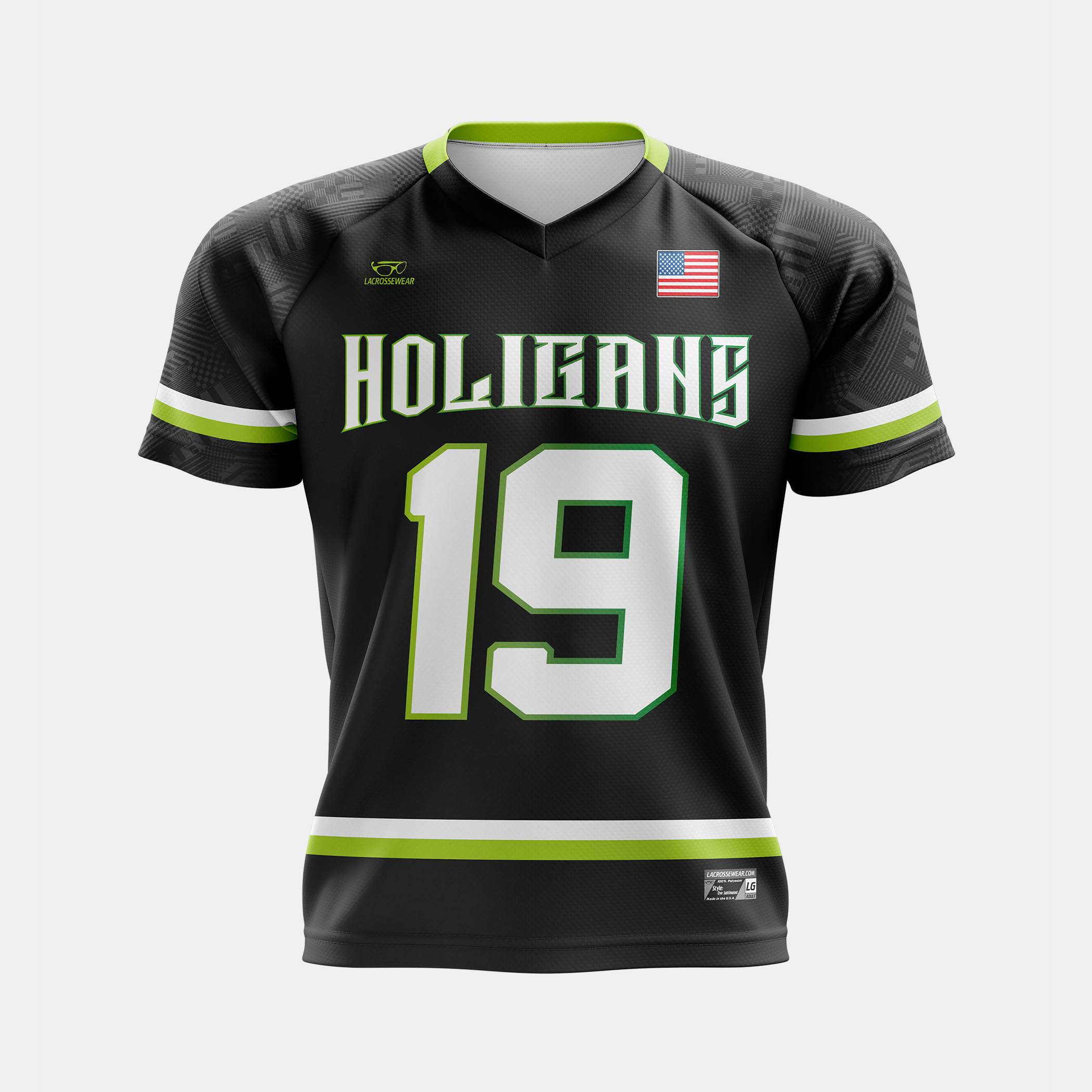 Holigans Lax Jersey Mock Front View