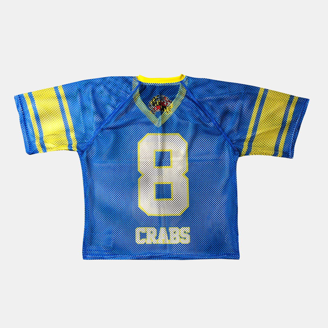 Lacrossewear Sublimated Port Hole Jersey Crabs Blue Back