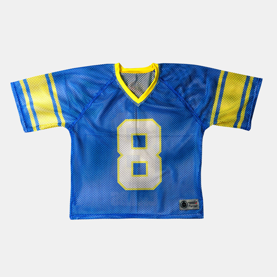 Lacrossewear Sublimated Port Hole Jersey Crabs Blue Front