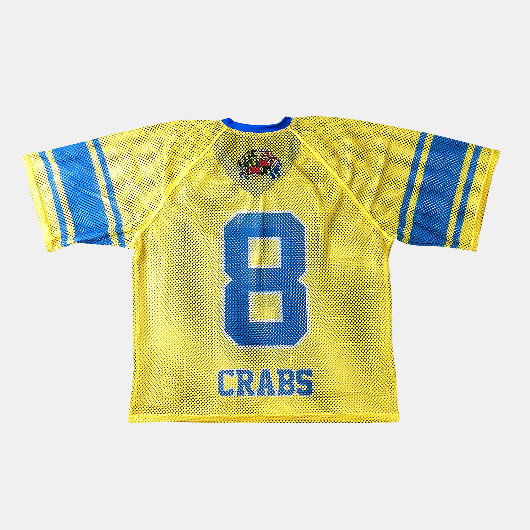 Lacrossewear Sublimated Port Hole Jersey Crabs Yellow Back