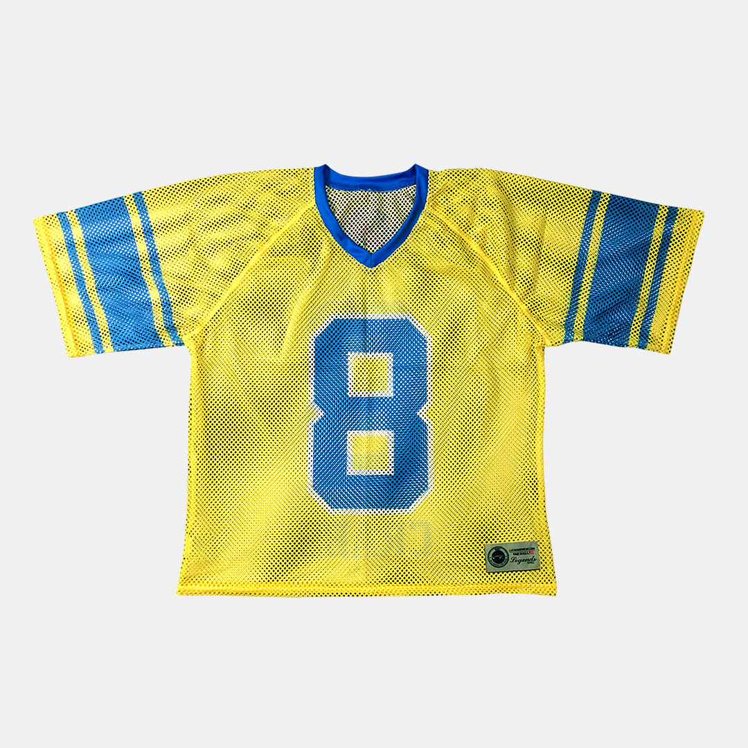Lacrossewear Sublimated Port Hole Jersey Crabs Yellow Front