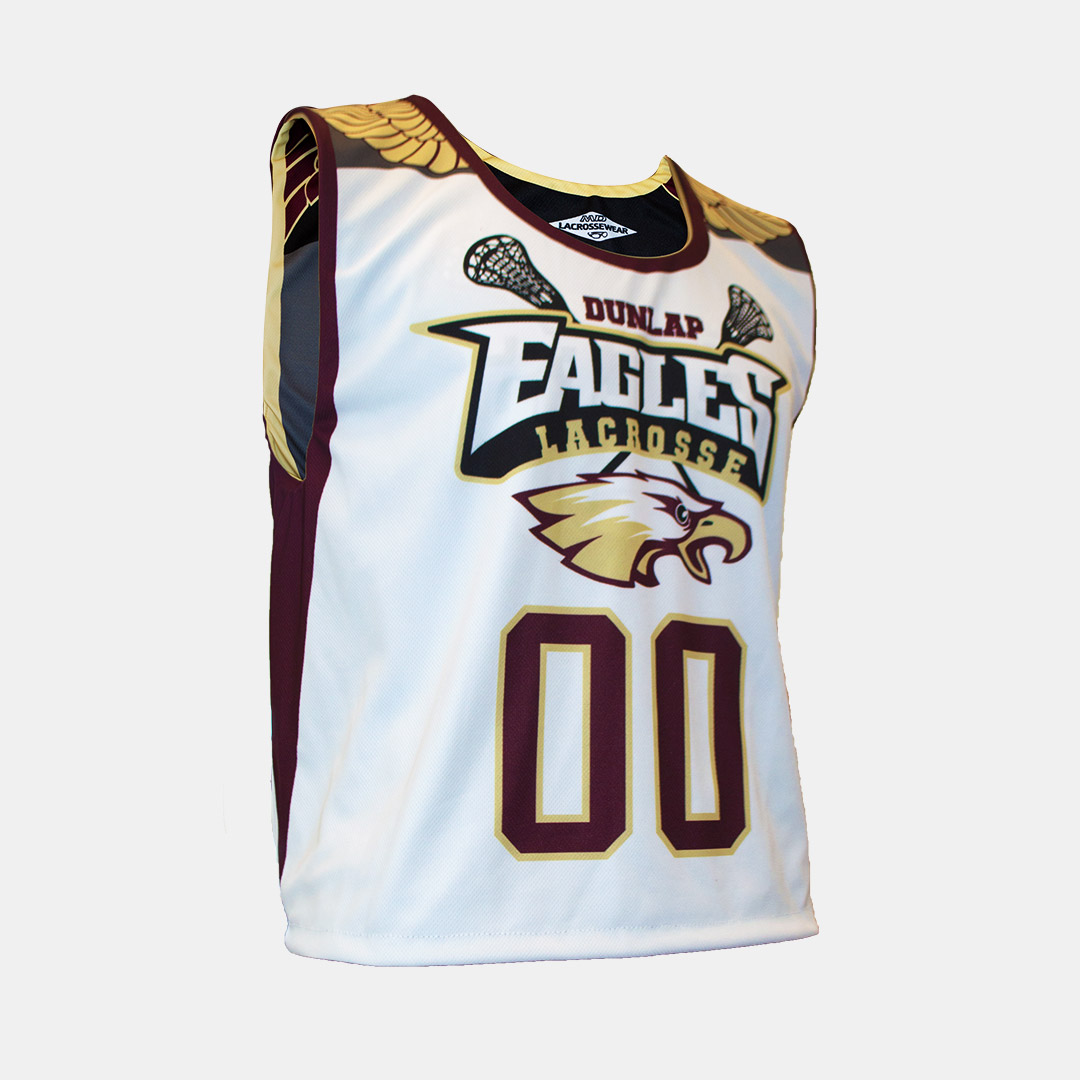 Lacrossewear Sublimated Rev Jersey Dunlap White Front