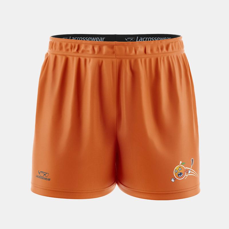 Lacrossewear Womens Sublmiated Short Front FL Orange