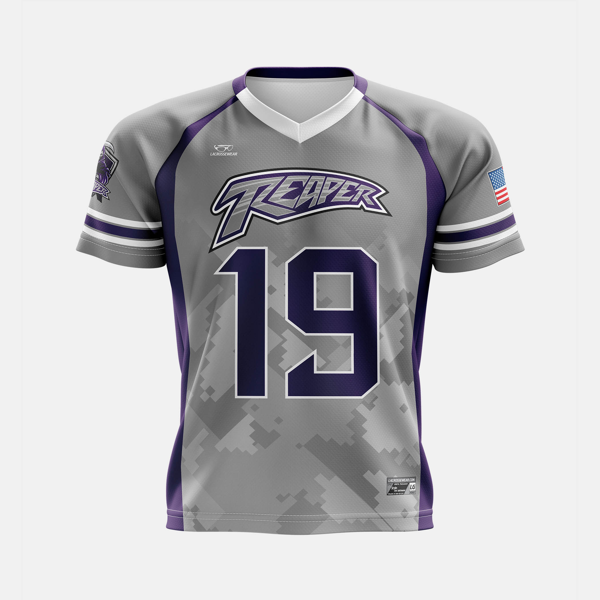 Reaper lax Jersey Mock Front View